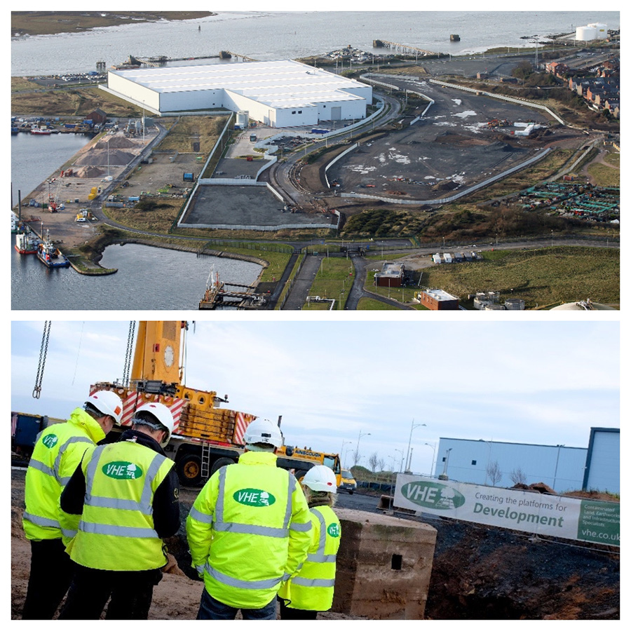 VHE complete works at Barrow Waterfront