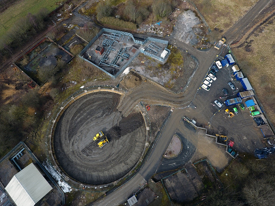 VHE secure Gasholder Infilling project in Burnley