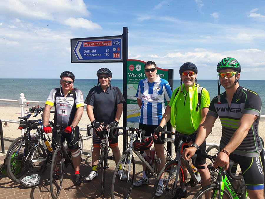 VHE employees complete cycling challenge in aid of Tiny Tickers