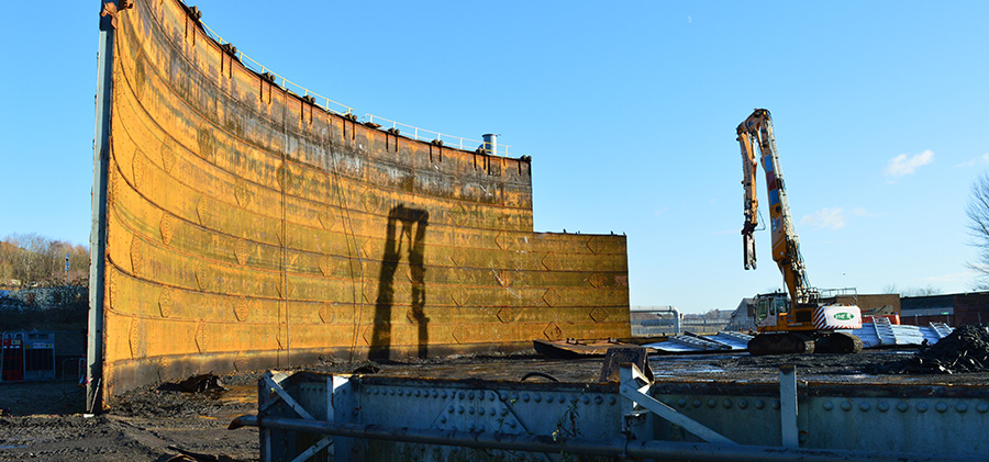 VHE play our part in Gas Holder Demolition programme