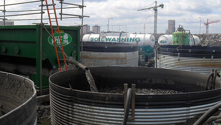 Soil washing techniques used in remediation projects