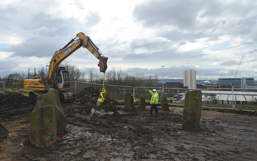 Glasgow's Stone Circle is removed as part of the Sighthill Project