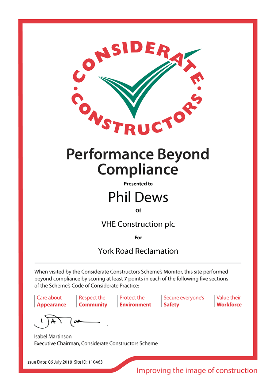 Performance Beyond Compliance Recognition for VHE